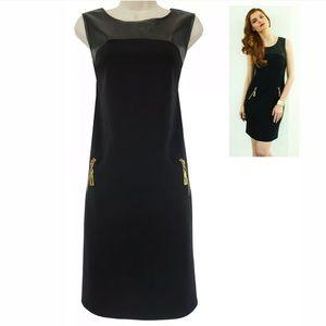 24W 3X▪️BLACK KNIT/PONTE SHEATH Dress Plus Size